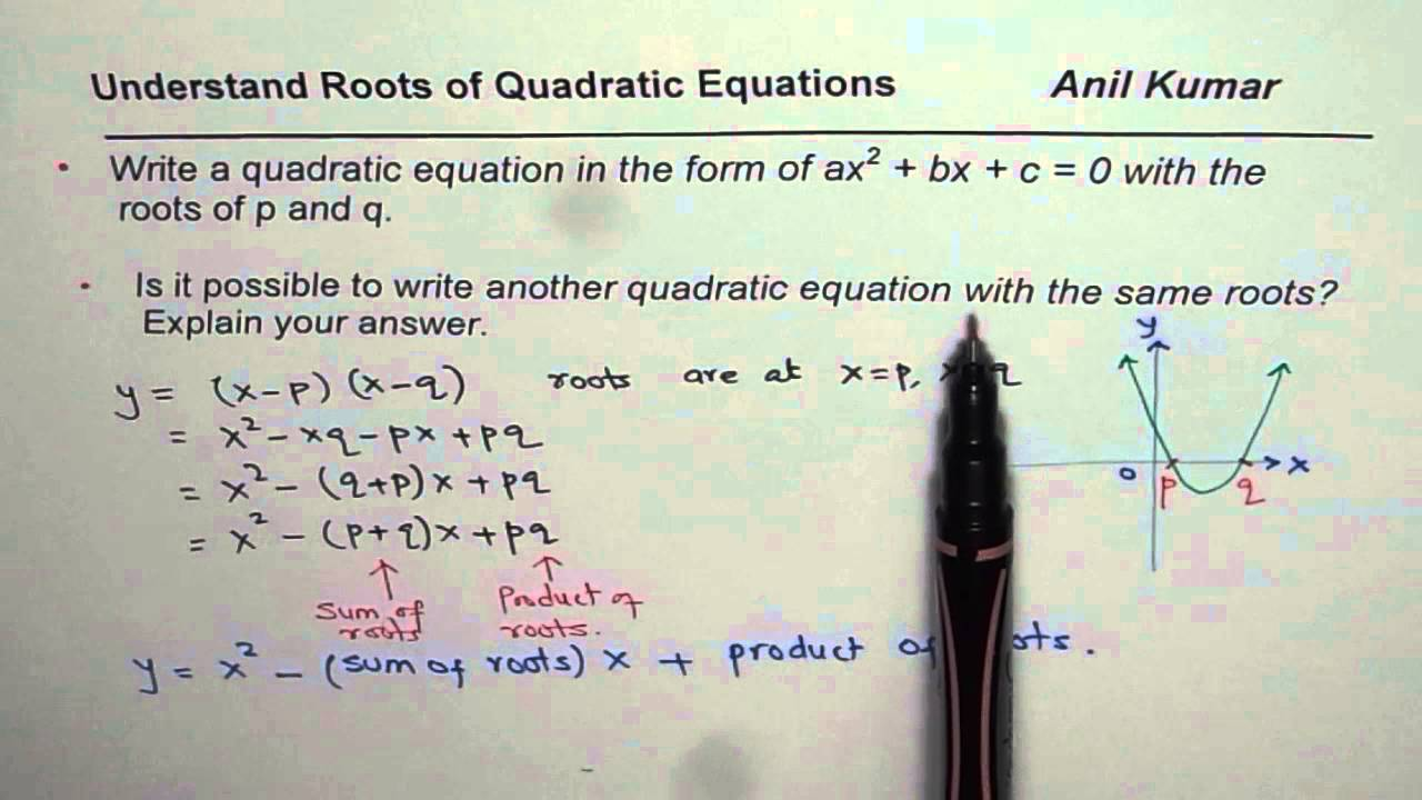 Write quadratic equation in standard form with given roots at p write quadratic equation in standard form with given roots at p and q falaconquin