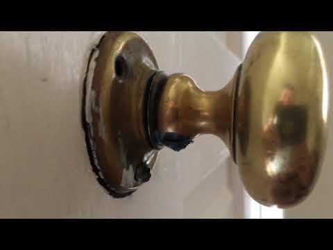 getting that old front door antique lock working better