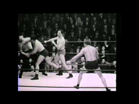 Nick Lutze & Tiny Roebuck vs Vincent Lopez & El Pulpo 1930's 1940's tornado tag match wrestling