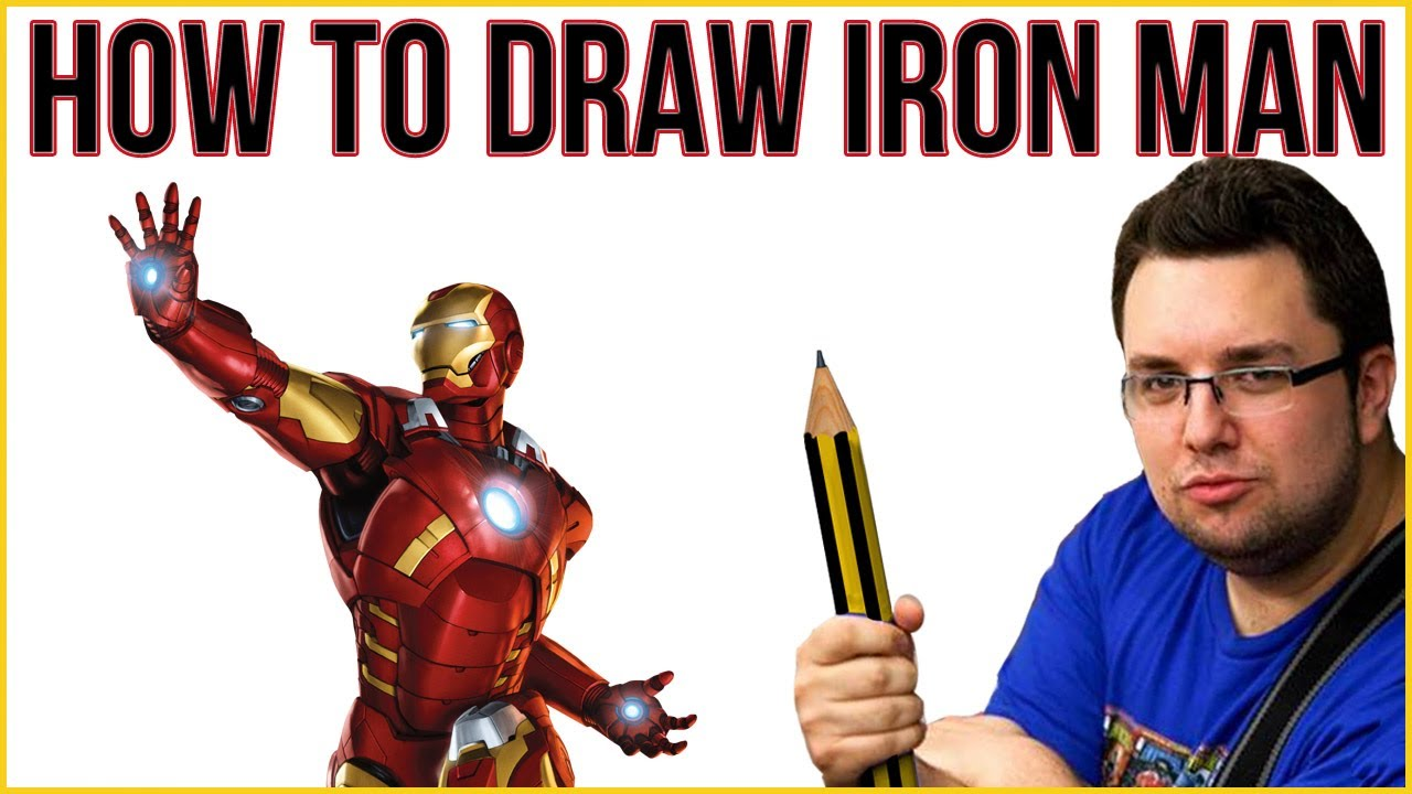 how to draw iron man mark 1