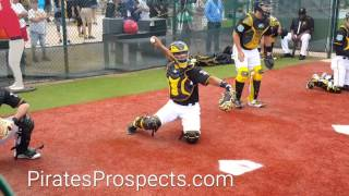 Pirates catcher Elias Diaz framing and blocking