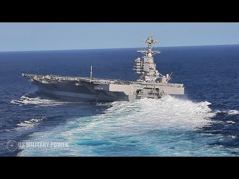 U.S. Navy Releases Incredible Video of USS Gerald R. Ford Conduct High-Speed Turns