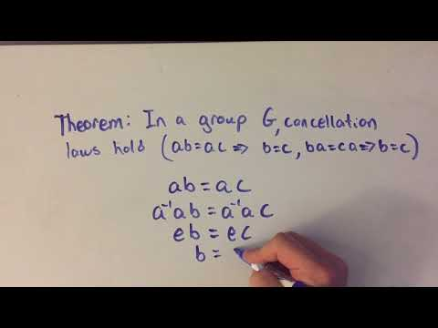 Cancellation Laws hold in a group proof (Abstract Algebra)