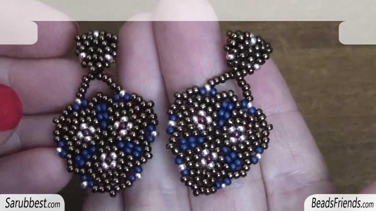 Beadsfriends Peyote Sch Earrings Seed Beads Circular Beaded Jewelry You