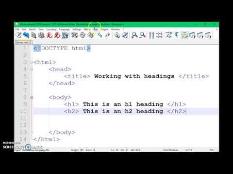 Level 1 HTML & CSS - HTML Headings