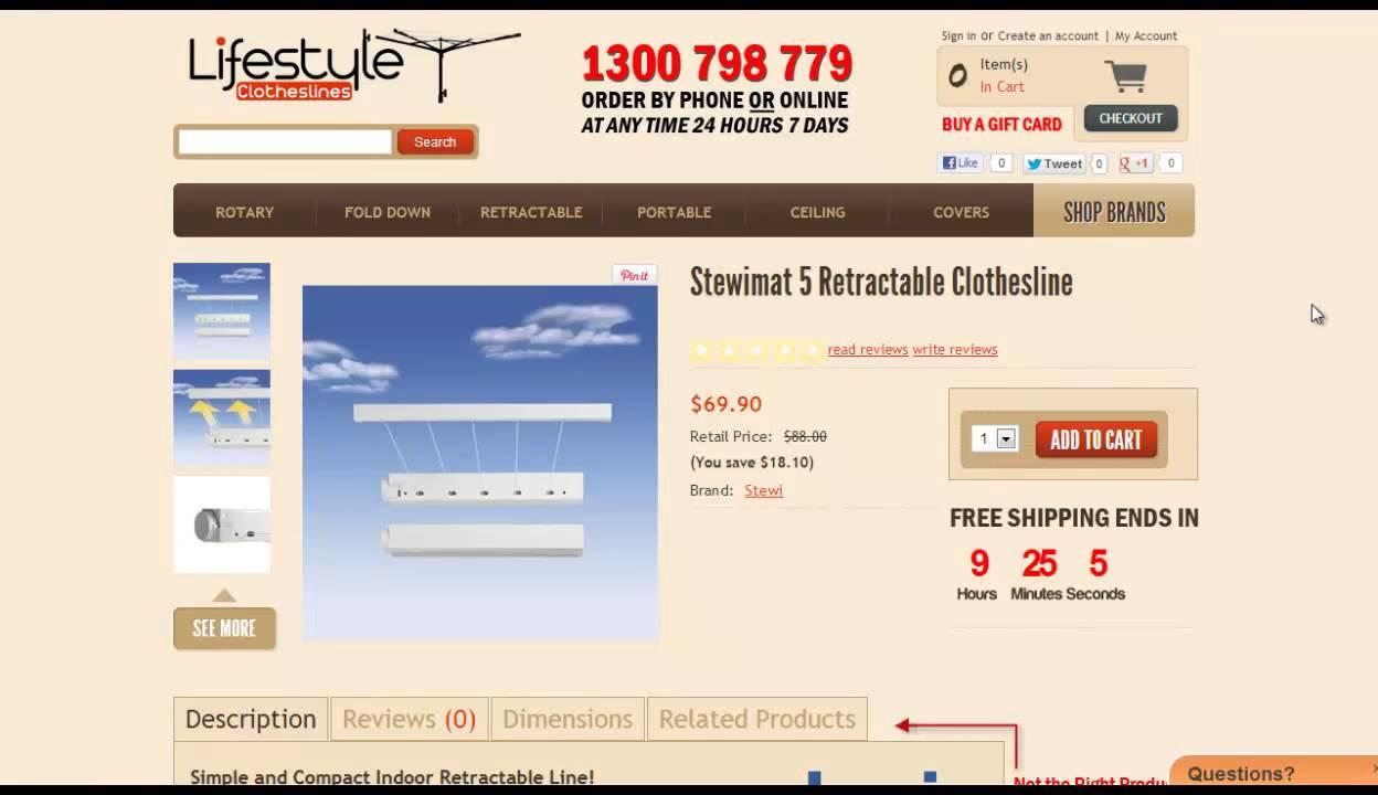 small retractable clothesline compact retracting clothes lines
