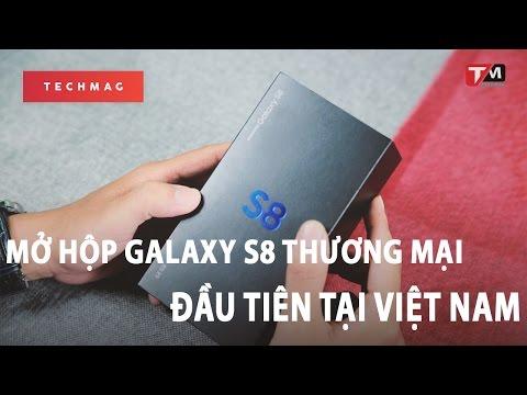 Mở hộp Samsung Galaxy S8 Midnight Black thương mại đầu tiên tại Việt Nam!!!