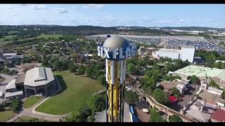 'SUPERMAN' Roller Coaster - Six Flags Fiesta Texas - DJI Phantom 4 Drone Footage