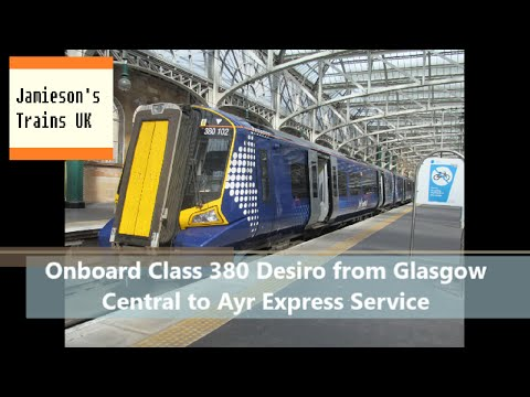 Onboard Class 380 Desiro from Glasgow Central to Ayr Express Service