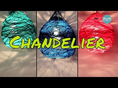 How to make a Lamp Shade/Chandelier | Art and craft