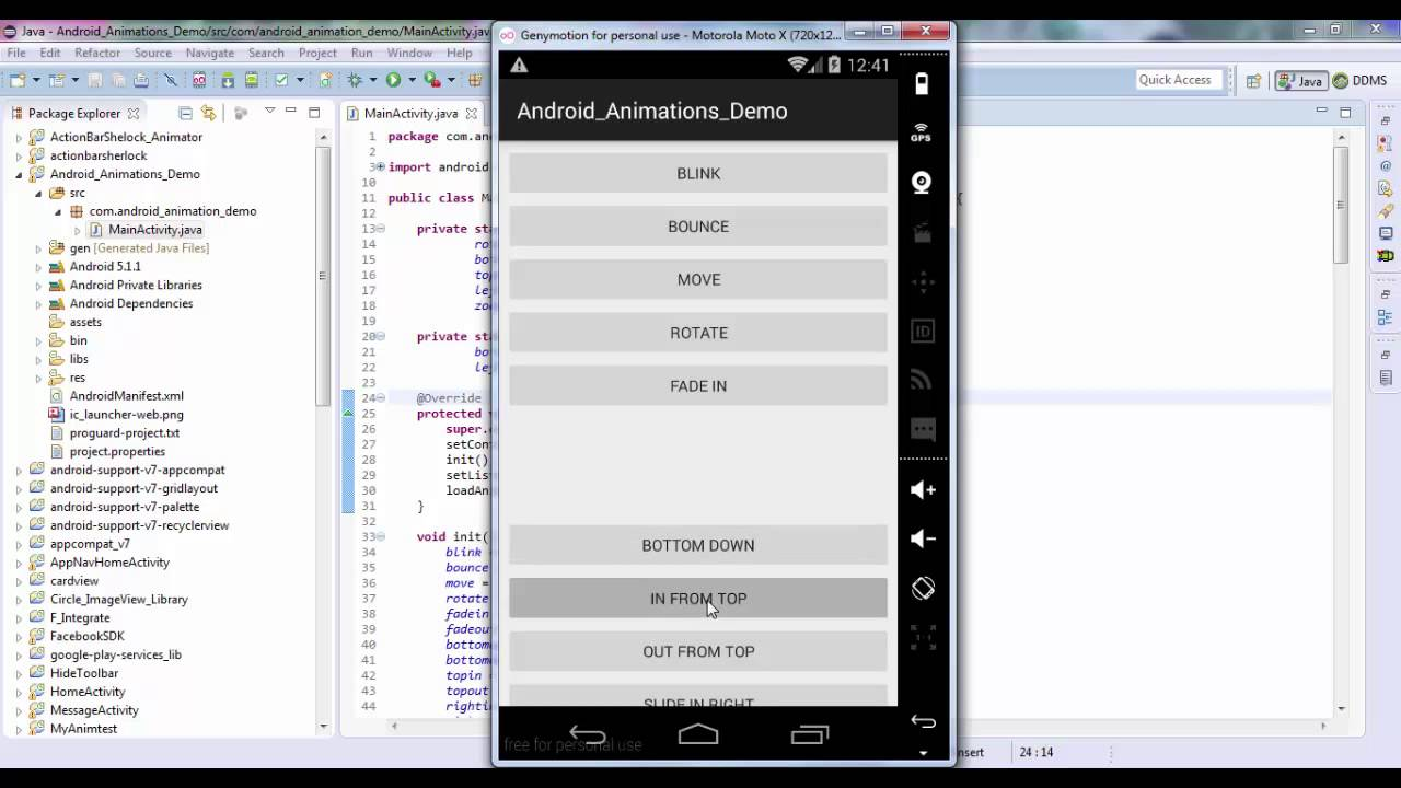 Android Animation - Androhub