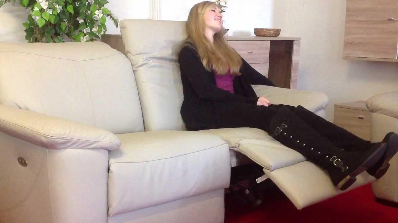 Leder Sofa Elektrisch Verstellbar Sitz Rechts Relax Funktion Youtube