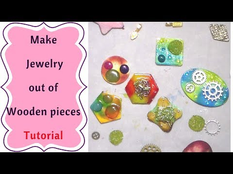 How to make Jewelry with Wooden Pieces  Tutorial