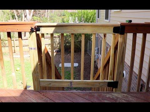 how to build a CUSTOM DECK GATE // Handyman