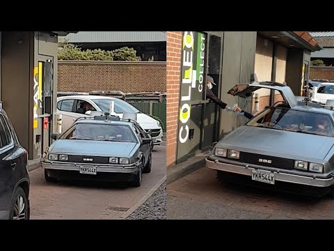 Back-To-The-Future-DeLorean-Goes-Through-McDonalds-Drive-Thru
