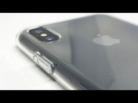 Installing Spigen Liquid Crystal (Crystal Clear) onto iPhone X【4K】