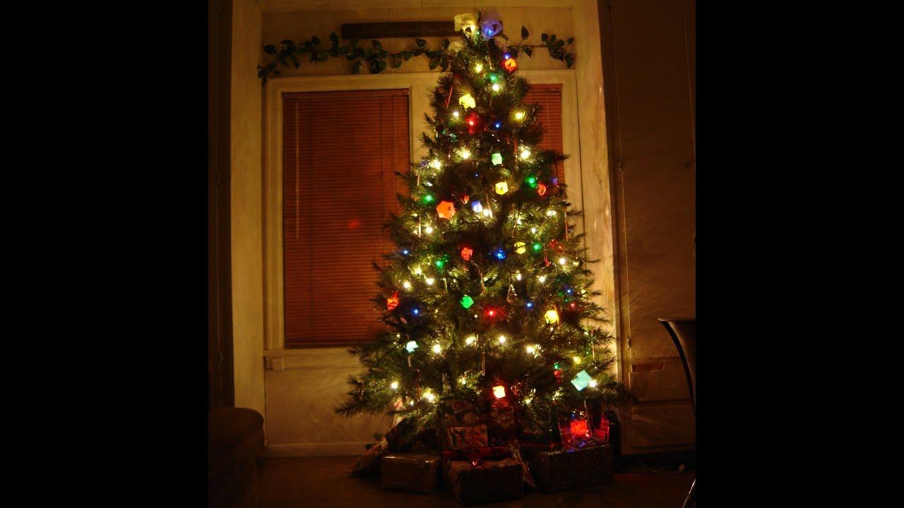 Origami, How To Make A Christmas Tree Light Lantern