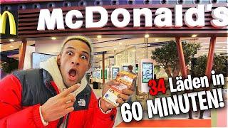 34 McDonalds Läden in 60 Min. besuchen!! **EXPERIMENT**
