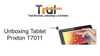 Tablet Prixton T7011, Unboxing en Español