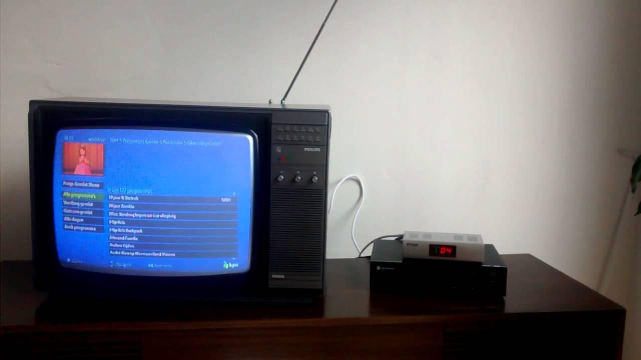 Digital tv on old retro vintage television - YouTube