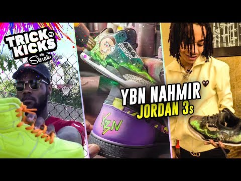INSANE Rick & Morty Customs For YBN Nahmir! Sierato WENT HARD On These Jordan 3s 😱