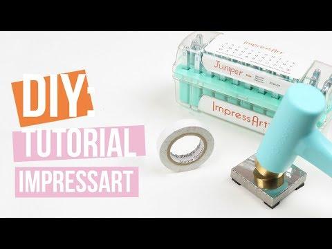 ImpressArt | Stamp Straight Tape ♡ Tutorial