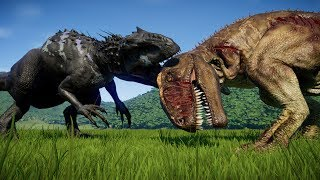 I-REX MAX Vs ALL CARNIVORES - Jurassic World Evolution