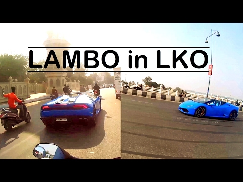 Super Car Chase | 5cr Lamborghini  in LKO | Supercars in Lucknow