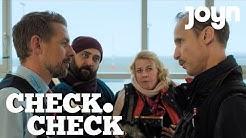 CHECK CHECK Interview mit Kailas Mahadevan, Jan Georg Schütte & Sara Fazilat   Joyn Serie mit Klaas