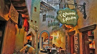 [4K] Agrabah Café Restaurant Tour - Disneyland Paris