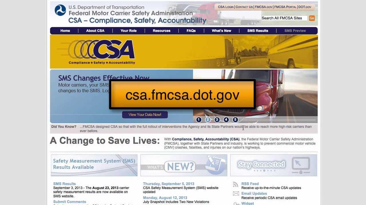 My CSA Score Lookup - Progressive Reporting