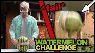 LATAJĄCY ARBUZ! (Watermelon Challenge) *fail*