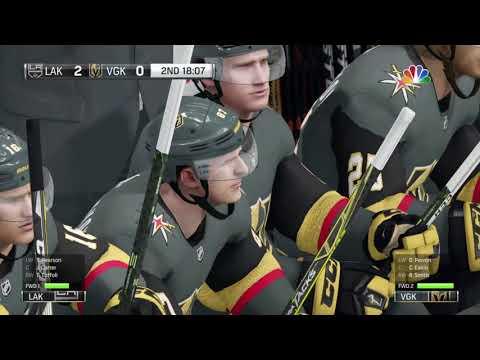 NHL® 18 PS4 Pro Gameplay: Los Angeles Kings vs Las Vegas Golden Knights.