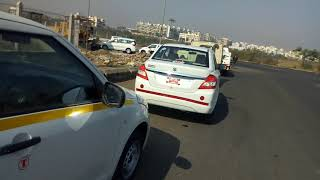 OLA New  Car Taxi Pune Moshi RTO passing taxi Ola