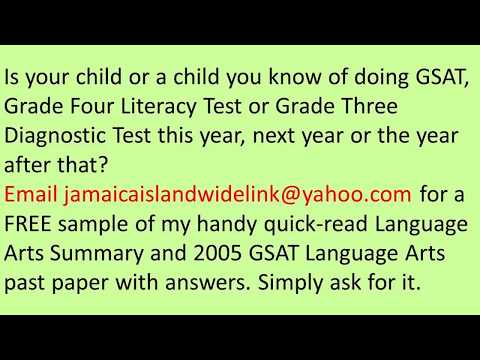 PEP And GSAT 2005 Language Arts Past Paper With Answers Free