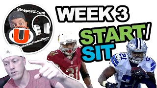 Week 3 Start & Bench Advice | Fantasy Football 2019.. who to start, who to sit?