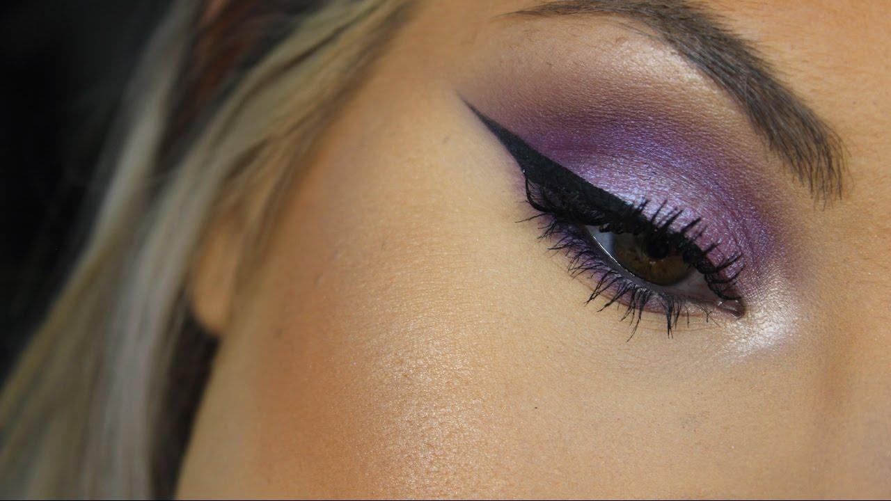 Easy Purple Eyeshadow Makeup Tutorial Youtube