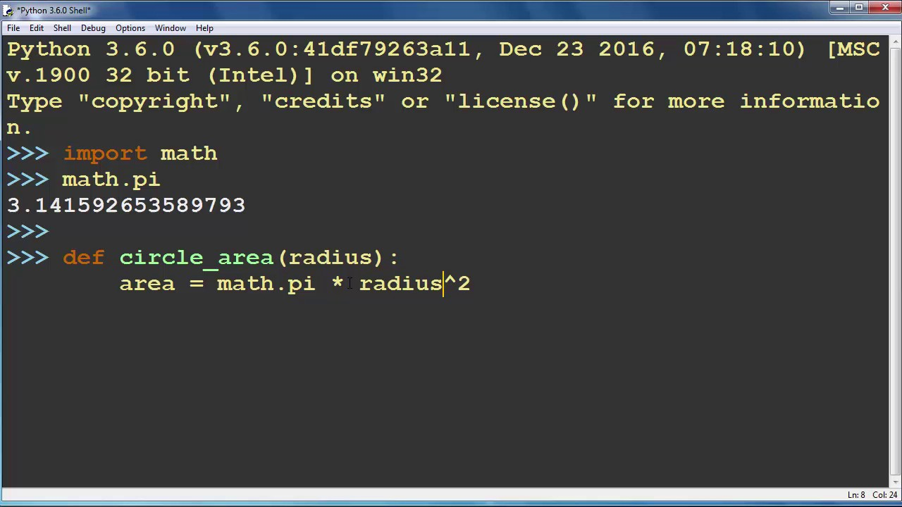 How To Calculate And Return The Area Of A Circle In Python Programming  Language