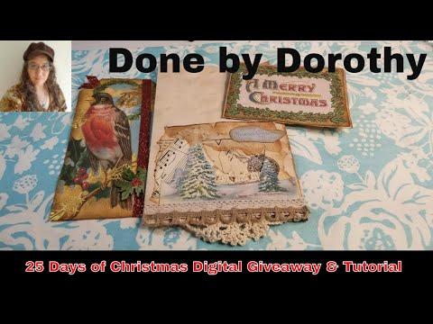 25 Days of Christmas Day #4  Ephemera Digital Freebie and Tutorial thumbnail