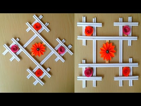 DIY Hanging Craft- Flower wall hanging with paper | Home decor idea || SUNIL CREATION