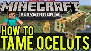 Minecraft Playstation - How To Tame an Ocelot