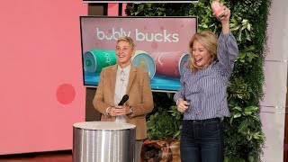 Ellen Kicks Off Breast Cancer Awareness Month with 'bubly bucks'!