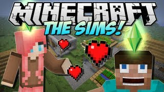 Minecraft | THE SIMS in Minecraft! (Minecraft Comes Alive!) | Mod Showcase [1.5.1]