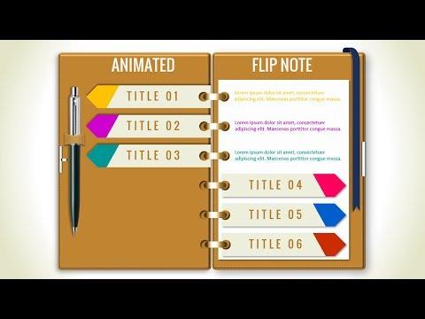 Multipurpose PowerPoint Template/Flip Note Design/Business Infographics/PowerPoint Presentation thumbnail