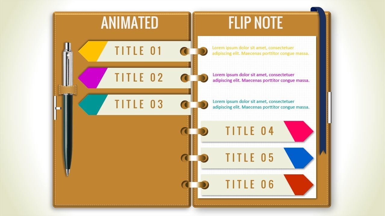 Multipurpose Powerpoint Template Flip Note Design Business Infographics Powerpoint Presentation Youtube