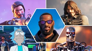 Fortnite All Crossover Trailers and Cutscenes (Season 1 - 17) - Marvel, DC, Gaming Legends & More!