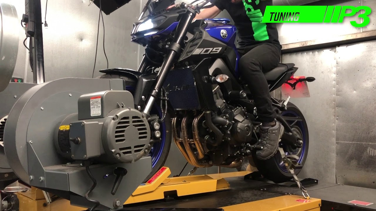 Yamaha MT 09 Full Custom Mapping using Woolich racing software K&N air  filter Scorpion race system P