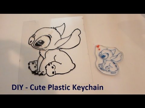 Diy cute plastic keychain youtube diy cute plastic keychain solutioingenieria Images