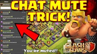 Clash of Clans - Clan chat MUTE TRICK! (pushing to legends #1)