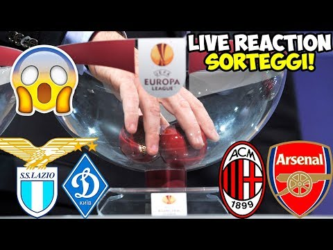 Sorteggi Europa League in LIVE! Milan-Arsenal | Lazio-Dinamo Kiev